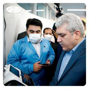 رونمایی از خط تولید کارتخوانهای هوشمند توسنتکنو با حضور معاون رئیسجمهور